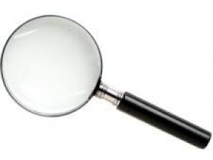 Magnifying glass, lens or reader glasses to enable you to see the filing grooves on a surface